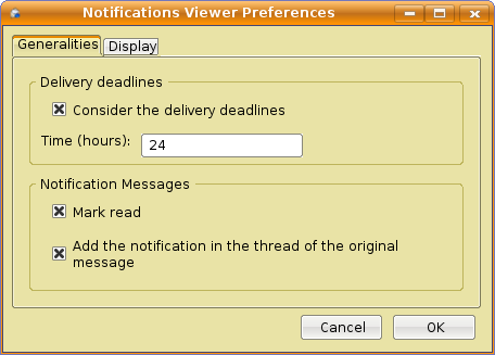 Notification viewer preferences